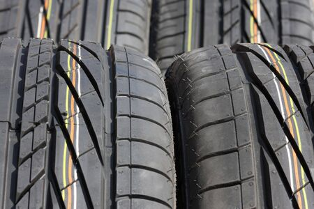 Closeup texture of a car tyre Stock Photo - 5590488