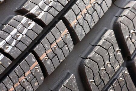 Closeup texture of a car tyre Stock Photo - 5692487
