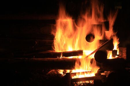 infernal:  Fire background Stock Photo