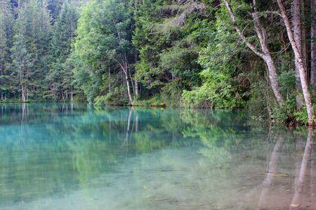 Clear blue lake Stock Photo - 7396290