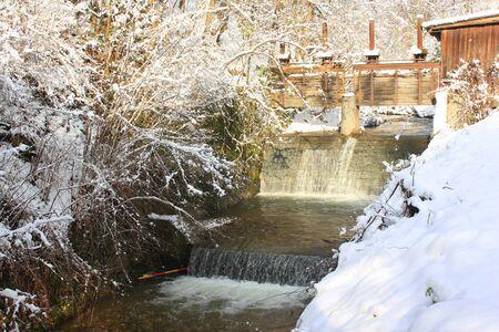 Winter creek photo