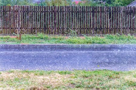 Strong rain on a asphalt road