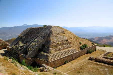 The pyramid ruins of Monte Alban - Oaxaca, Mexico photo