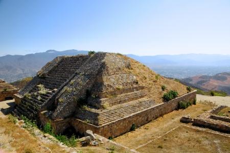 oaxaca: The pyramid ruins of Monte Alban - Oaxaca, Mexico Stock Photo