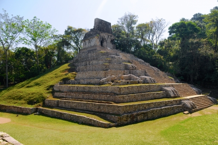 The pyramid ruins of Palenque, Mexico photo