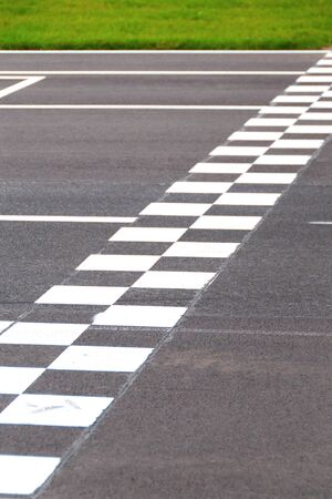 Karting Circuit Chessboard Start  Finish Line photo