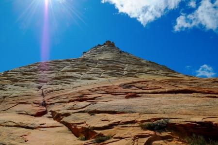 mesa: Checkerboard Mesa, Zion National Park, Utah, US