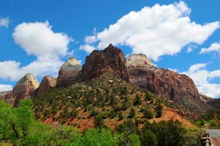Zion Canyon National Park - Impassable Barrier, Utah, US Stock Photo - 16155306