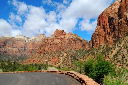 Zion Canyon National Park - Impassable Barrier, Utah, US Stock Photo - 16155349