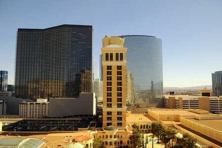 Las Vegas Hotels View with blue sky in Background, Las Vegas, US photo