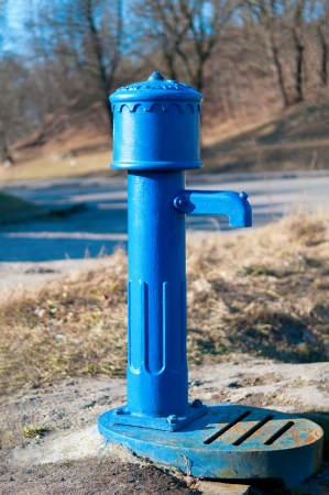 operated: Old hand operated Water Pump