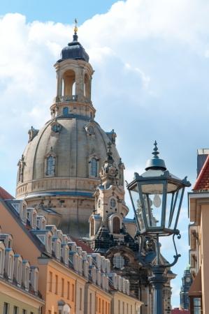 frauenkirche: City Light und die Frauenkirche in Dresden