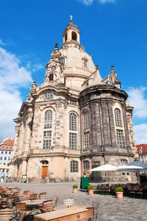 frauenkirche: Die Frauenkirche in Dresden Lizenzfreie Bilder