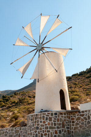 Tradition Windmill, Crete Island, Greece photo