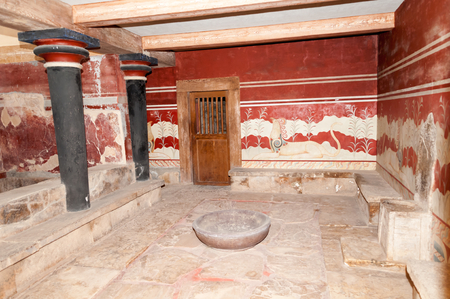 Palace of Knossos  Knossos is the largest archaeological site on Crete  photo