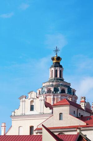 casimir: St. Casimir church in Vilnius, baroque style architecture. Stock Photo