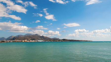 kreta: View to Ierapetra bay, Crete Island, Greece