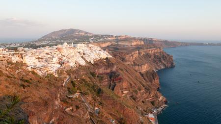 fira: Beautiful view to Fira city, Santorini Island, Greece