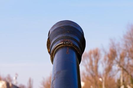 howitzer: Field-gun, World War II, rusty barrel