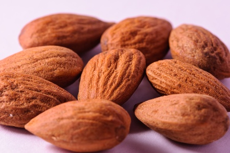 Almonds on a white background Stock Photo - 17431607