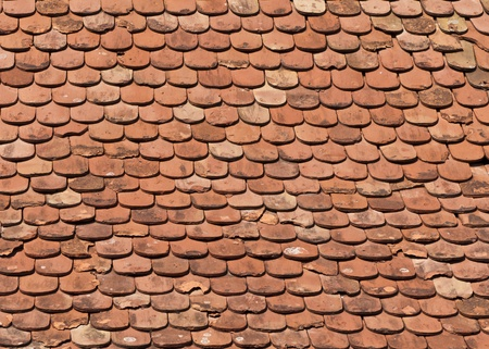 Old roof tiles photo
