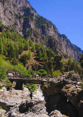 Samaria Gorge, island of Crete, Greece photo