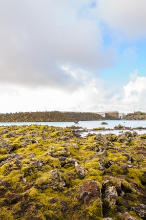 Blue Lagoon - famous Icelandic spa and Geothermal Power plant (panoramic picture) Stock Photo - 25572323