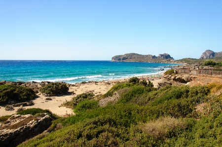 Falassarna Beach has won prizes for being the most beautiful beach in Crete and is always one of the top ten beaches in Europe, with its wonderful, fine white sand and warm, crystal-clear water. photo