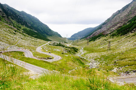 View of famous Transfagarasan Highway,  the second-highest paved road in Romania photo