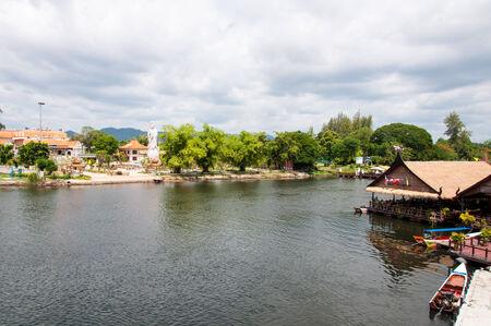 Kanchanaburi, Thailand - May 23, 2014:View over River Kwai, Kanchanaburi province, Thailand.