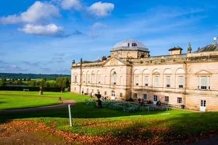 the national trust: United Kingdom, North Yorkshire - October 5, 2014: Castle Howard is a famous stately home for Brideshead remake being filmed here and is also part of the National Trust in North Yorkshire, England.