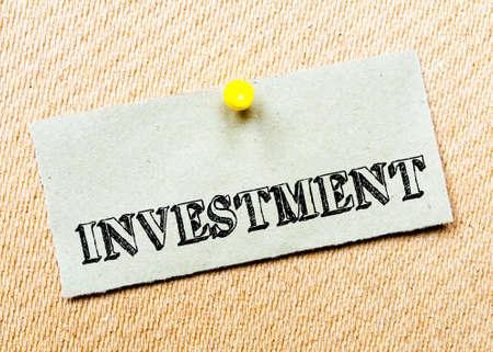 billboard posting: Investment