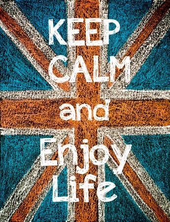 color design: Keep Calm and Enjoy Life.  Stock Photo