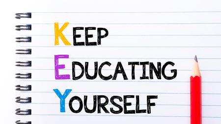 維持教育自分テキストとして「ノートブック」ページ、右側に赤鉛筆で書かれたキー