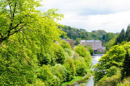 新しい Lanark の世界遺産サイト、スコットランド。 写真素材