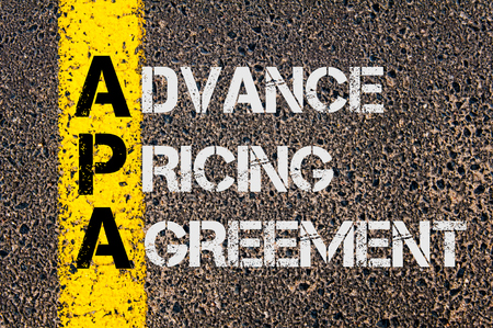 Concept Image Of Business Acronym Apa As Advance Pricing Agreement