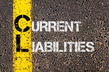 liabilities: Concept image of Business Acronym CL as Current Liabilities  written over road marking yellow paint line.