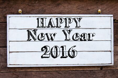 Happy New Year 2016 Inspirational Message Written On Vintage.. Stock ...