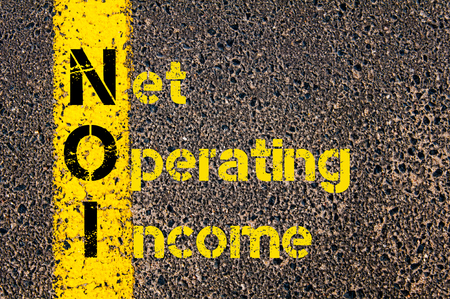 net income: Business Acronym NOI as Net Operating Income Stock Photo