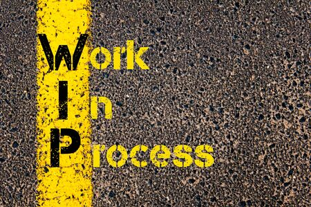 incentive: Concept image of Accounting Business Acronym WIN Work Incentive Credit written over road marking yellow paint line.