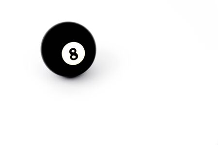 bola ocho: Billiard eight ball isolated on a white background