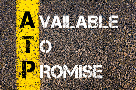 absolute: Concept image of Business Acronym AQ Absolute Quality written over road marking yellow paint line