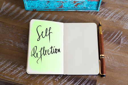 Handwritten Text Self Reflection Фото со стока - 58914581