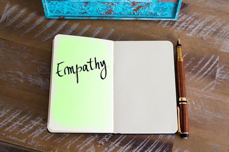 empatia: Empatía texto escrito a mano Foto de archivo