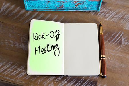 kickoff: Handwritten Text Kick-Off Meeting