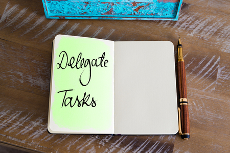 delegate: Handwritten Text Delegate Tasks