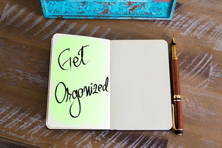 organized: Handwritten Text Get Organized