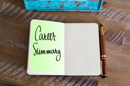 summary: Handwritten Text Career Summary