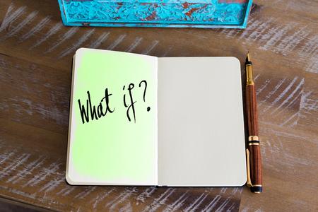 Handwritten question What If ? Stok Fotoğraf - 58914676