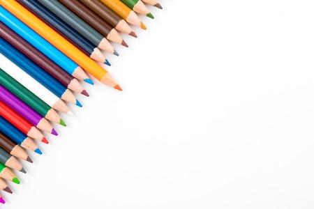 Lápices Del Colorante En El Círculo Aislado En El Fondo Blanco ...